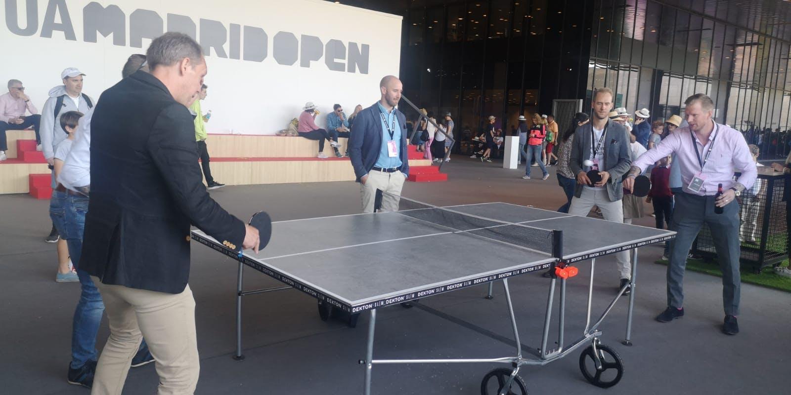 Image of Mesa ping pong de Dekton en zona comercial MMO 2019 1 in Dekton® stars at the Mutua Madrid Open - Cosentino