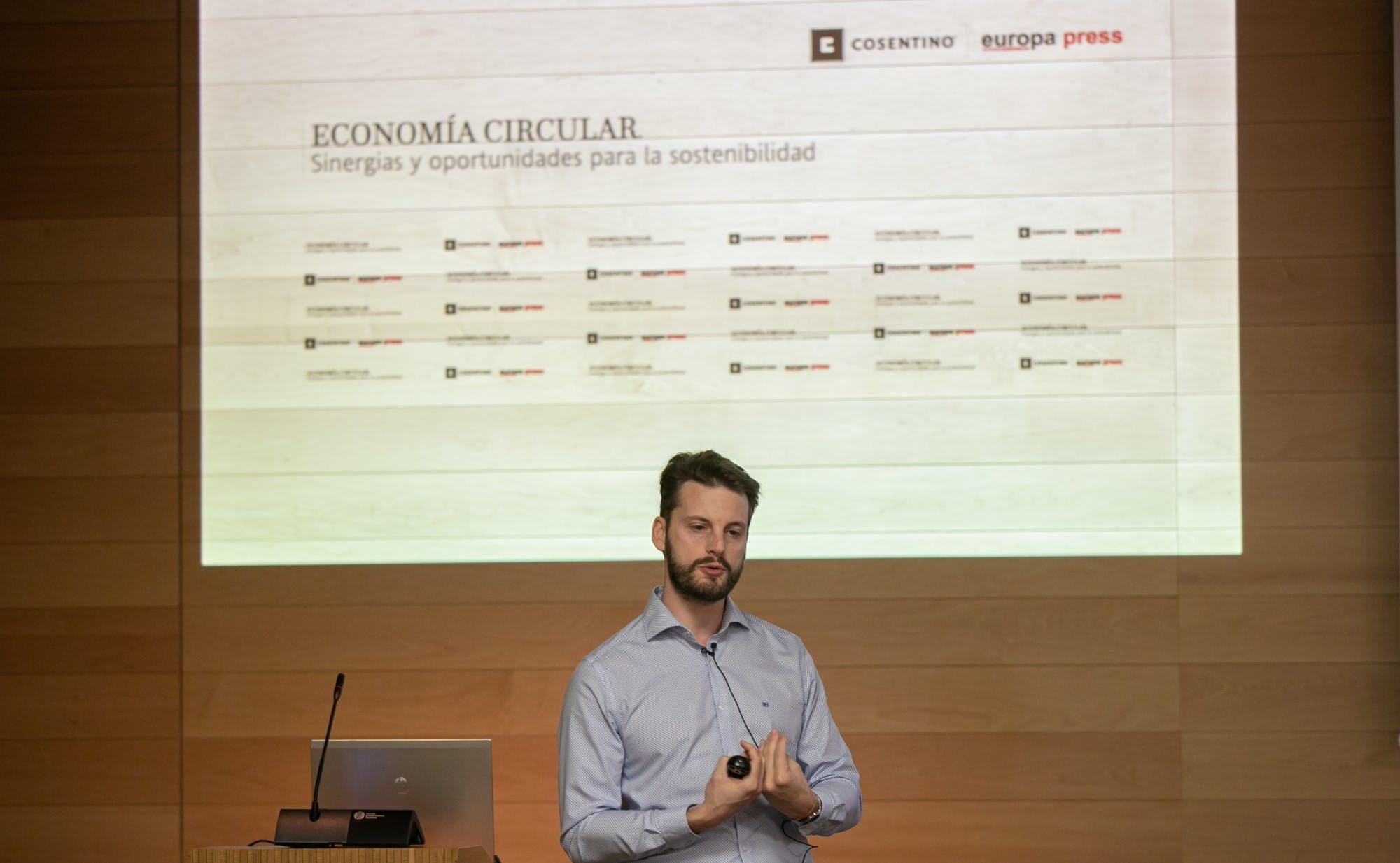 Image of Nicola Cerantola Jornada Economia Circular Cosentino 2 in Cosentino promotes the Circular Economy and Industrial Simbiosis - Cosentino