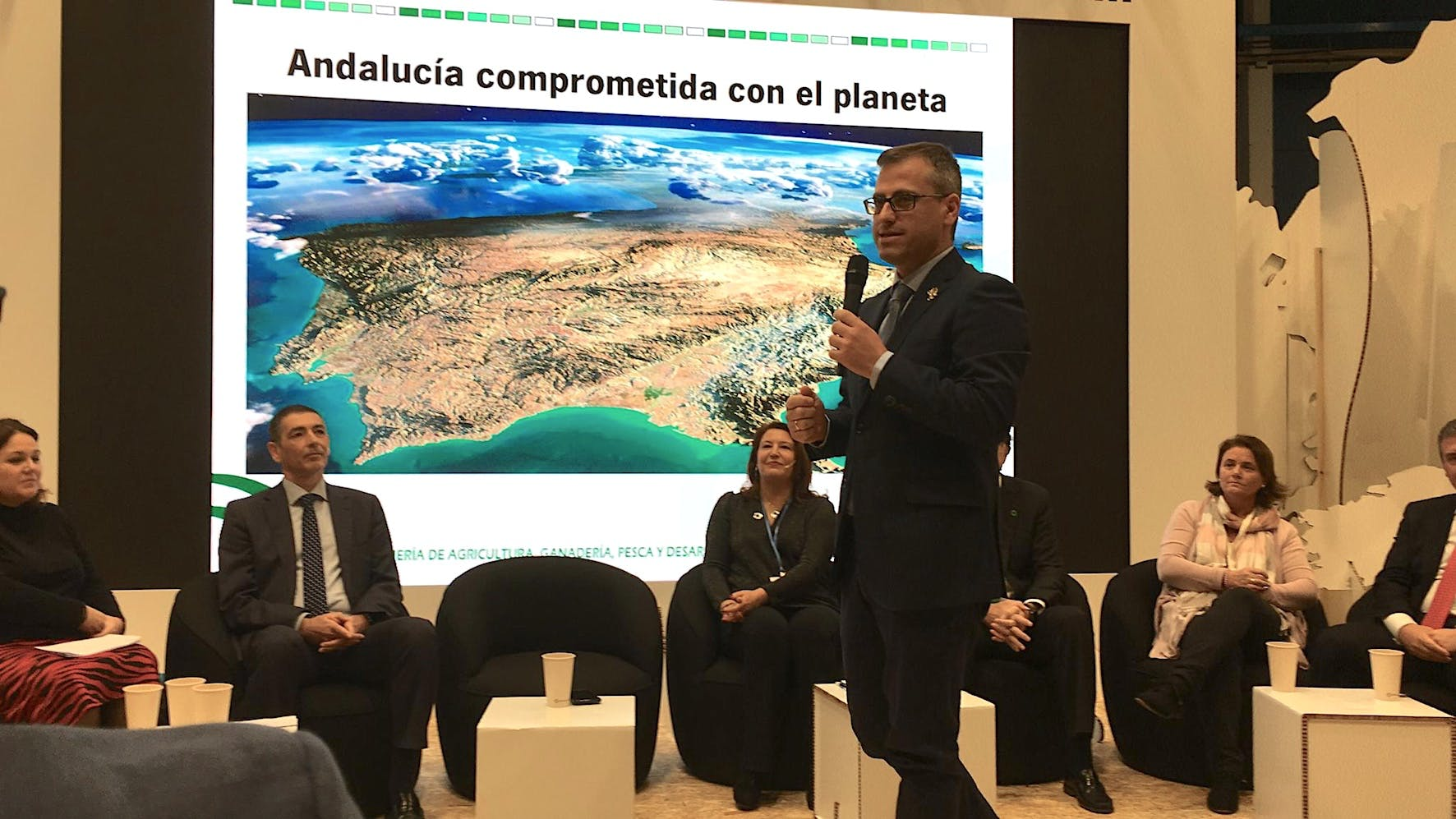 Image of Ponencia Antonio Urdiales Andalucia Cop25 1 in Cosentino demonstrates its sustainability policy at COP25 - Cosentino