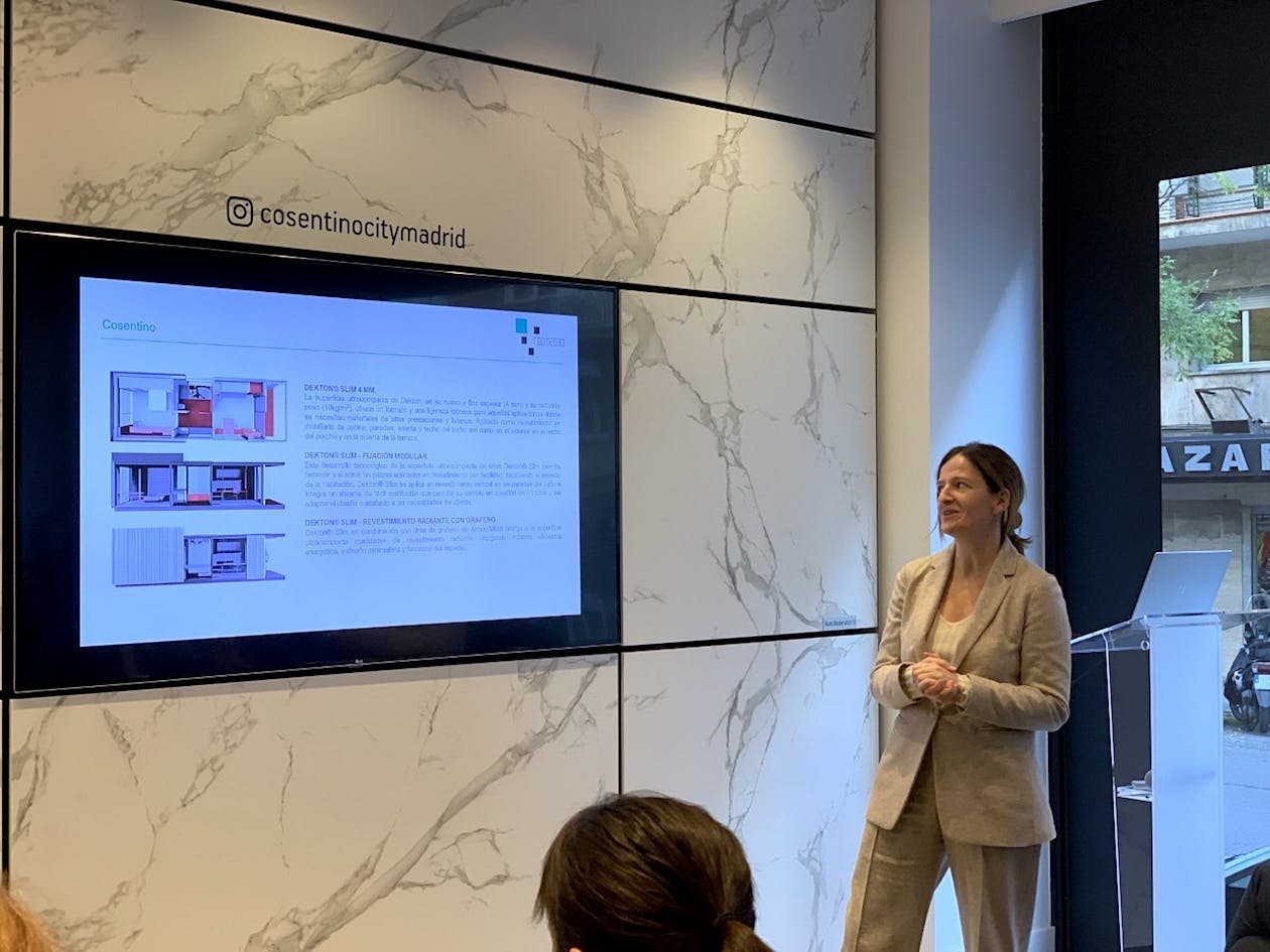 Image of Presentacion Room2030 Vanessa Feo Cosentino 1 in Cosentino joins Room 2030, the room of the future - Cosentino