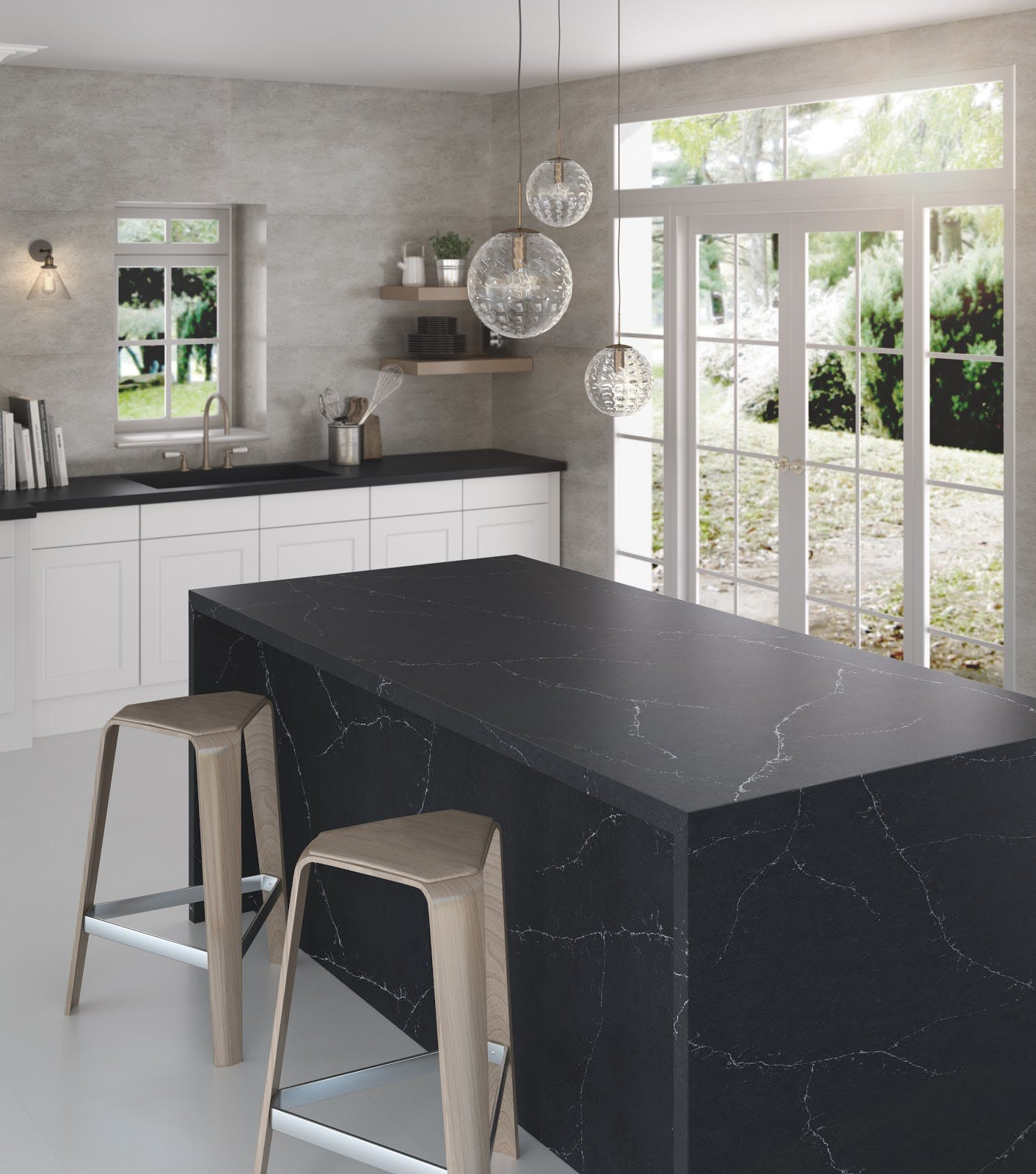 Image of RS11272 Silestone Kitchen Eternal Charcoal Soapstone 2 in Compact kitchens: Who says they're a disadvantage? - Cosentino
