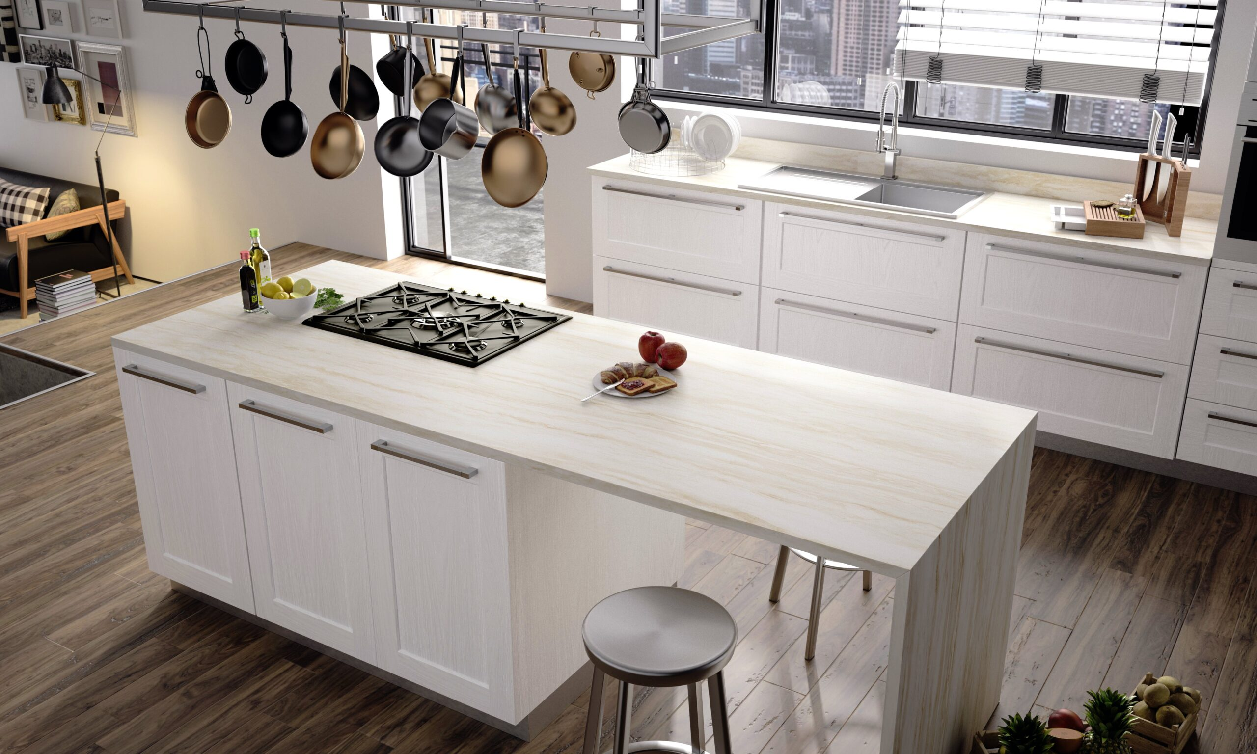 Image of RS11286 Dekton Kitchen 2 Sand Drift 2 scaled in {{The best floors for kitchens}} - Cosentino
