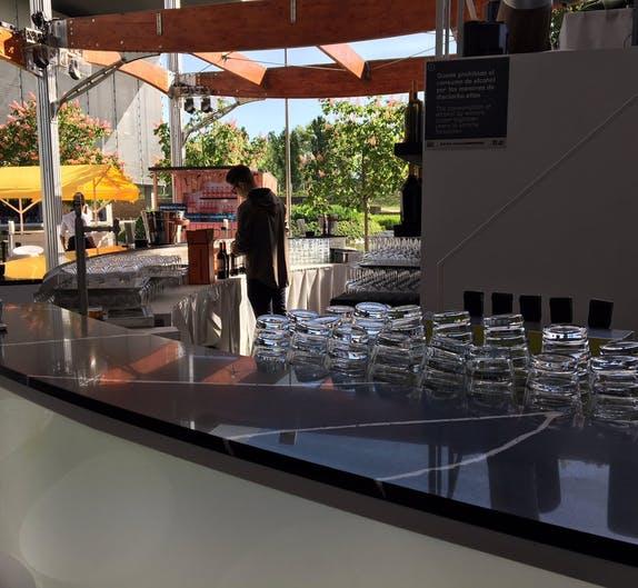 Image of Restauracion VIP Silestone Eternal Marquina 2 2 2 in Dekton®, the 'top' sponsor of the Mutua Madrid Open 2018 - Cosentino