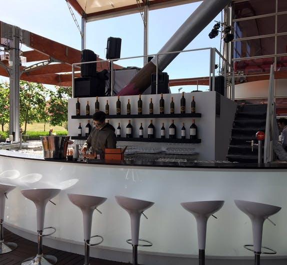 Image of Restauracion VIP Silestone Eternal Marquina 3 2 in Dekton®, the 'top' sponsor of the Mutua Madrid Open 2018 - Cosentino