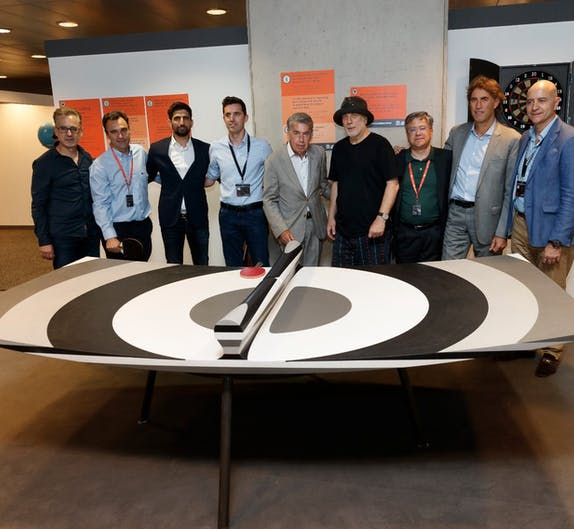 """Image of Ron AradCosentinoMMO Teams 1 3 in Ron Arad and """"10 Layers"""" at the Mutua Madrid Open with Cosentino - Cosentino"""