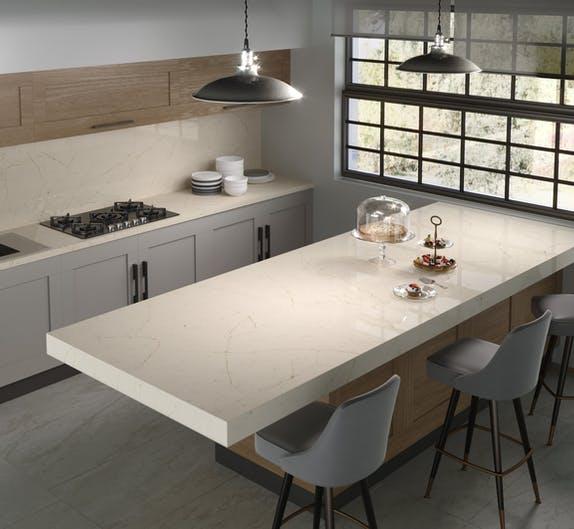 "Image of Silestone® Eternal Marfil encimera cocina lr 1 in New Dekton® and Silestone® colours: ""cement"" and ""natural"" trends - Cosentino"