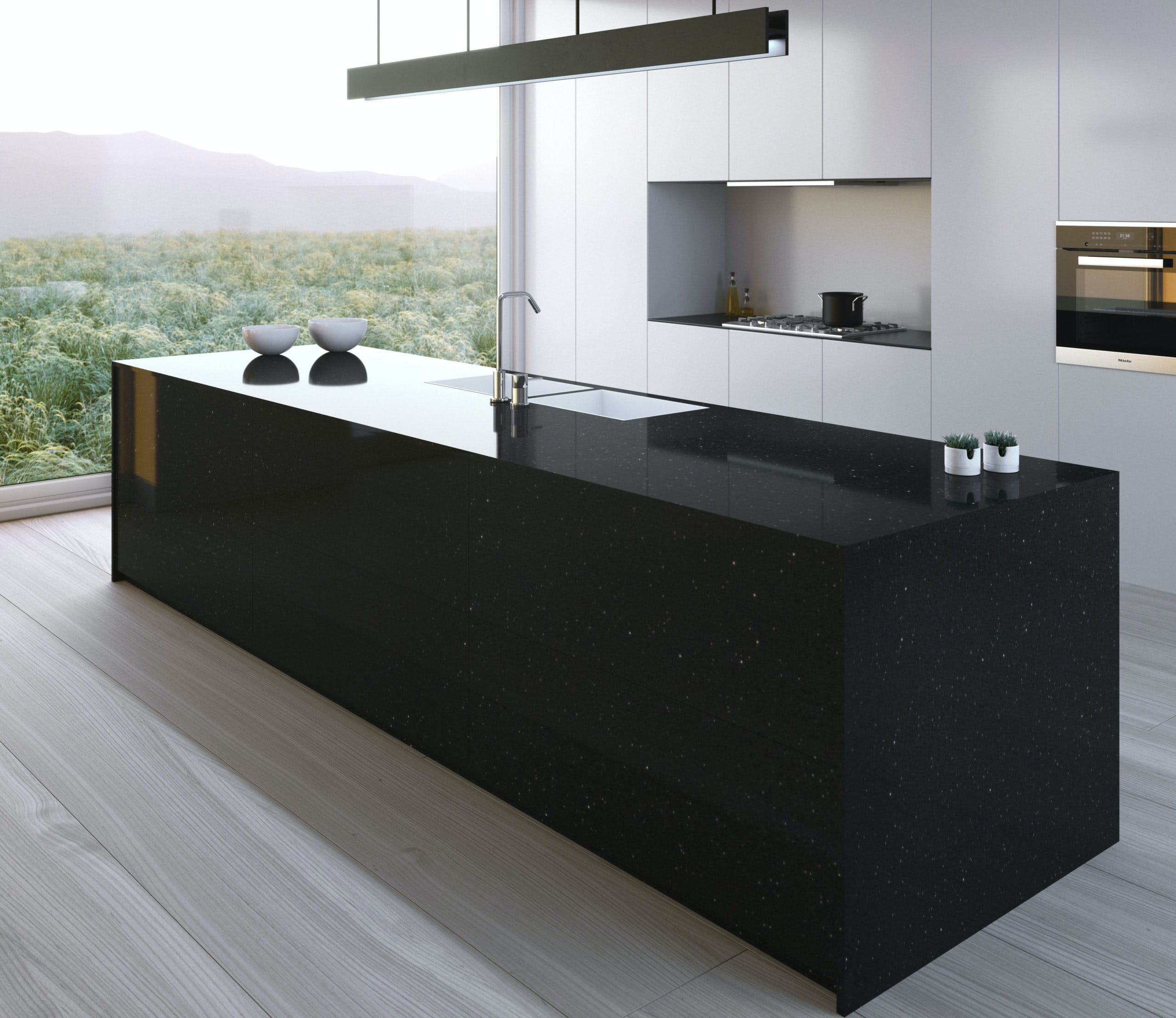 Image of Silestone Kitchen Negro Stellar 2 scaled 1 in Cuisine, Design and Culture: Silestone® and Feroz Awards 2021 - Cosentino