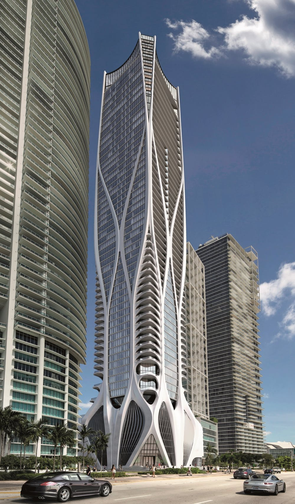 Image of Street view facing R96003 1 in One Thousand Museum: An awesome legacy with the shape of a skyscraper - Cosentino