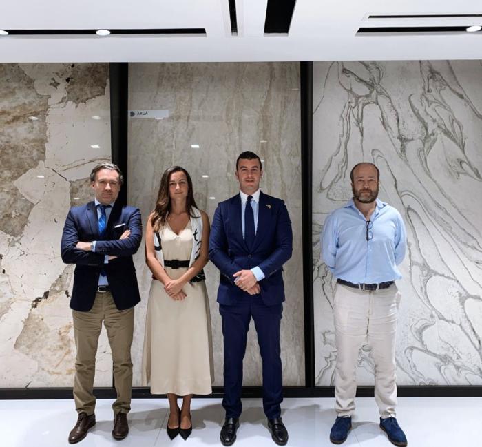 Image of Victor Arguello de Banco Sabadell Miriam Llano de Cosentino Guillermo Cobelo de Tecnicas Reunidas Ramon Merino de Royal Arrow 8 in Cosentino Group, among the protagonists of the Milan Design Week 2021 - Cosentino