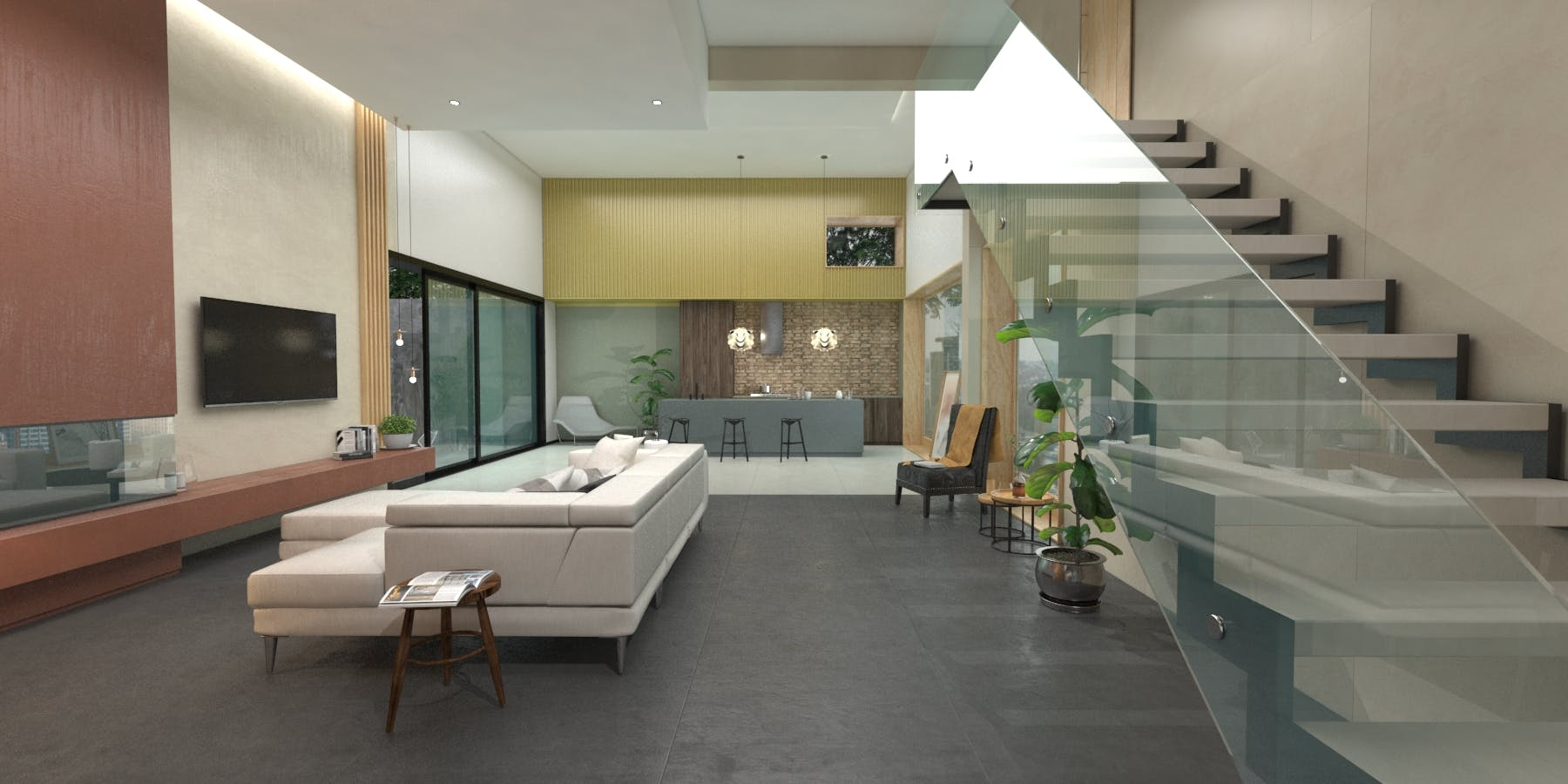 Image of Virtual stand Cosentino KBIS 2021 living room 4 in Cosentino at KBIS 2021 - Cosentino