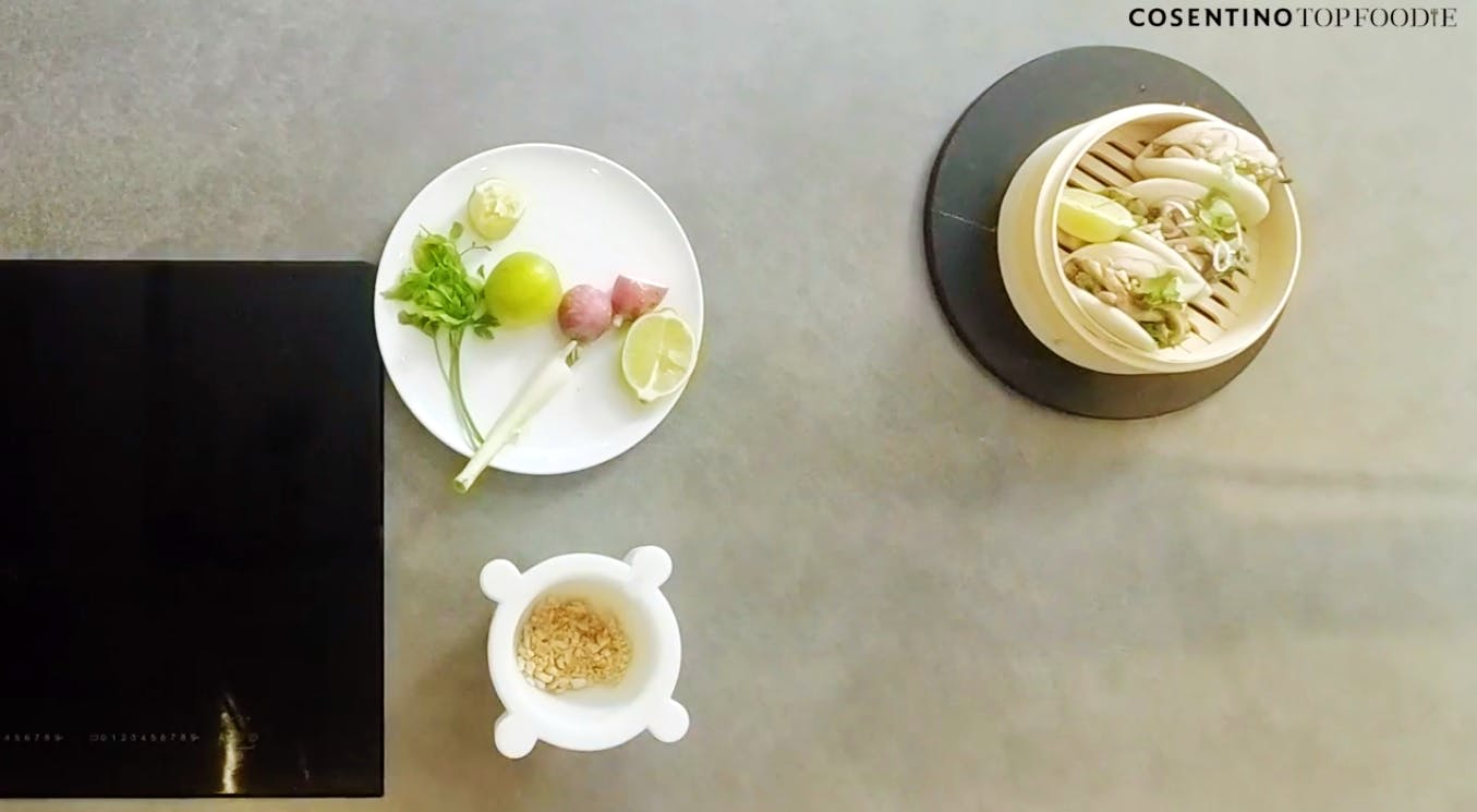 Image of bao in Marta Simonet's Bao Buns Recipe - Cosentino