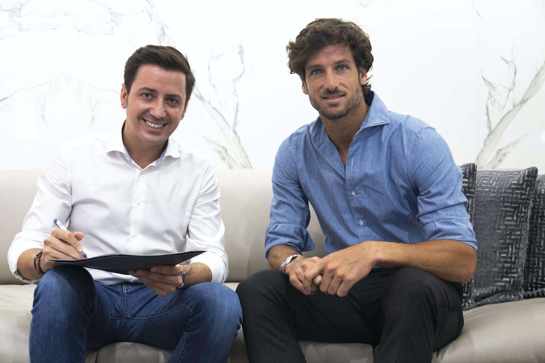 Image of eduardo cosentino feliciano lopez Cosentino MMOpen 1 in Dekton renews its partnership with the Mutua Madrid Open - Cosentino