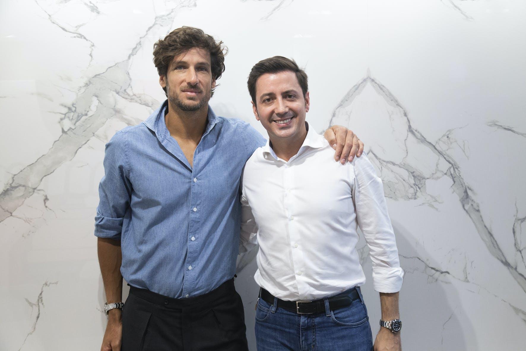 Image of eduardo cosentino feliciano lopez Cosentino MMOpen 2 1 in Dekton renews its partnership with the Mutua Madrid Open - Cosentino