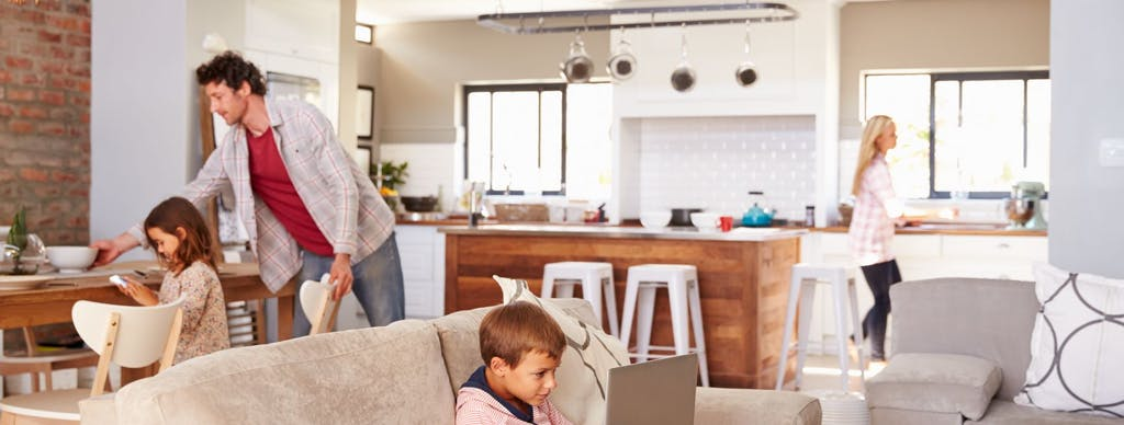 Image of familia.hogar in Good cleaning, order and decoration: well-being at home - Cosentino