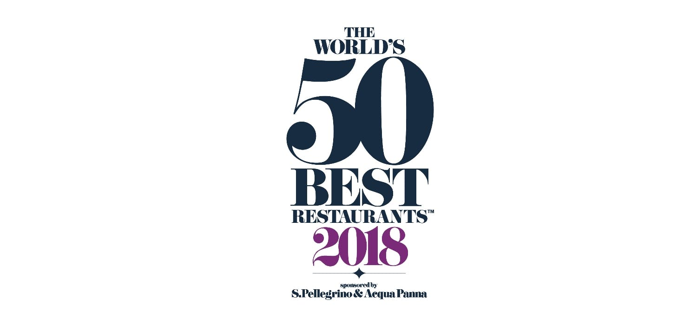 "Image of logo 50 best restaurants portada 3 2 1 in Dekton® and ""The World's 50 Best Restaurants 2018"" - Cosentino"