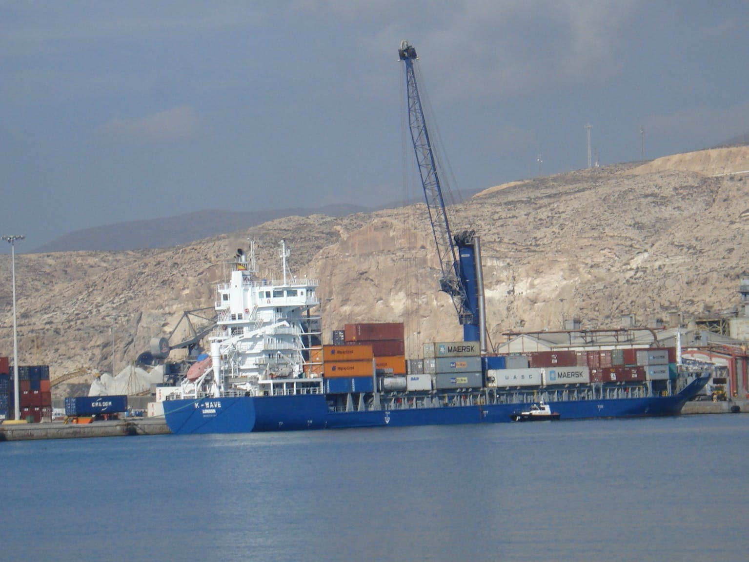 Image of maersk cosentino puerto almeria 2 1 in Maersk launches operations, with Cosentino, at the Port of Almería - Cosentino