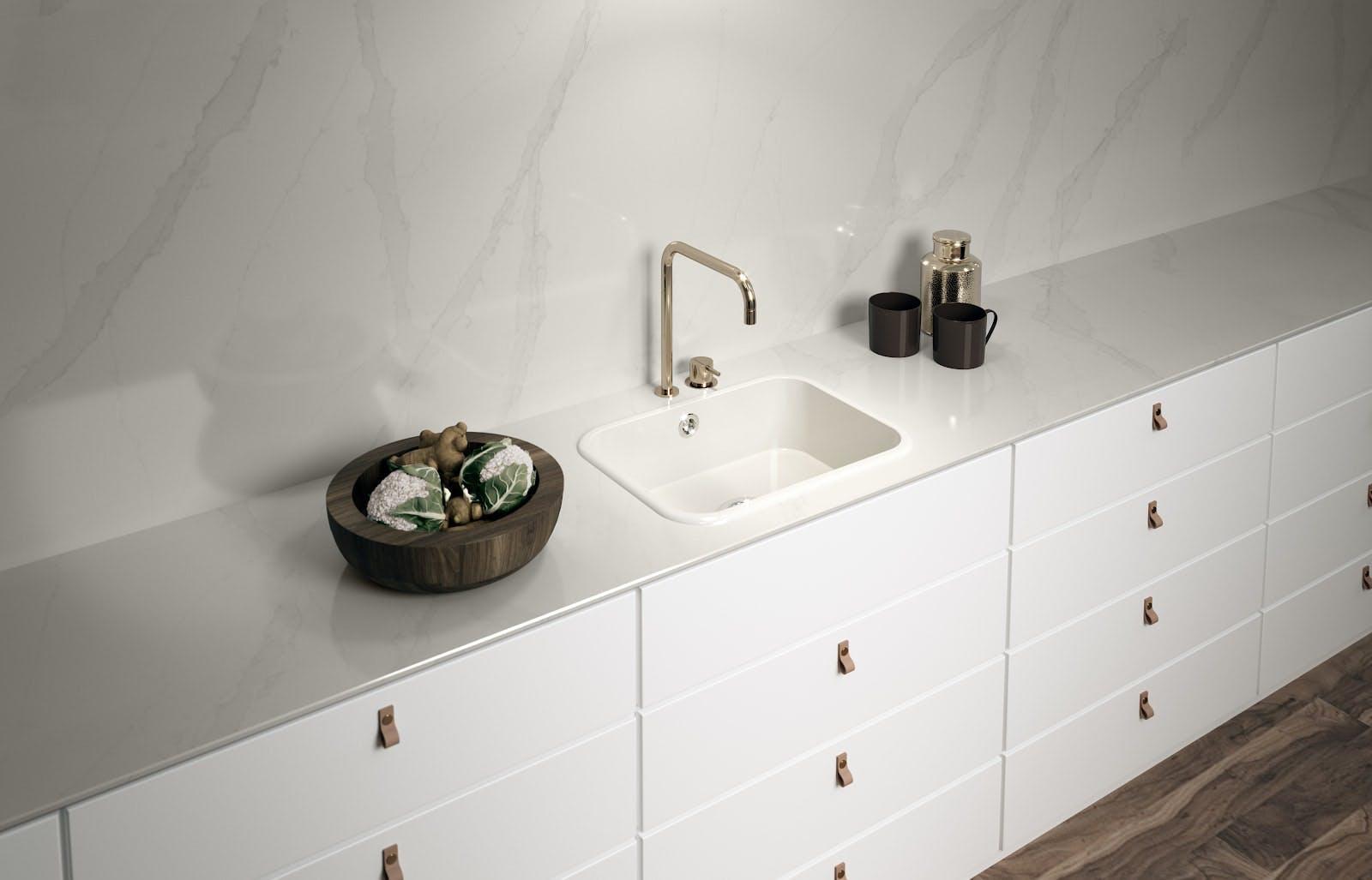 White Quartz Countertop, Quartz Countertops Bathroom