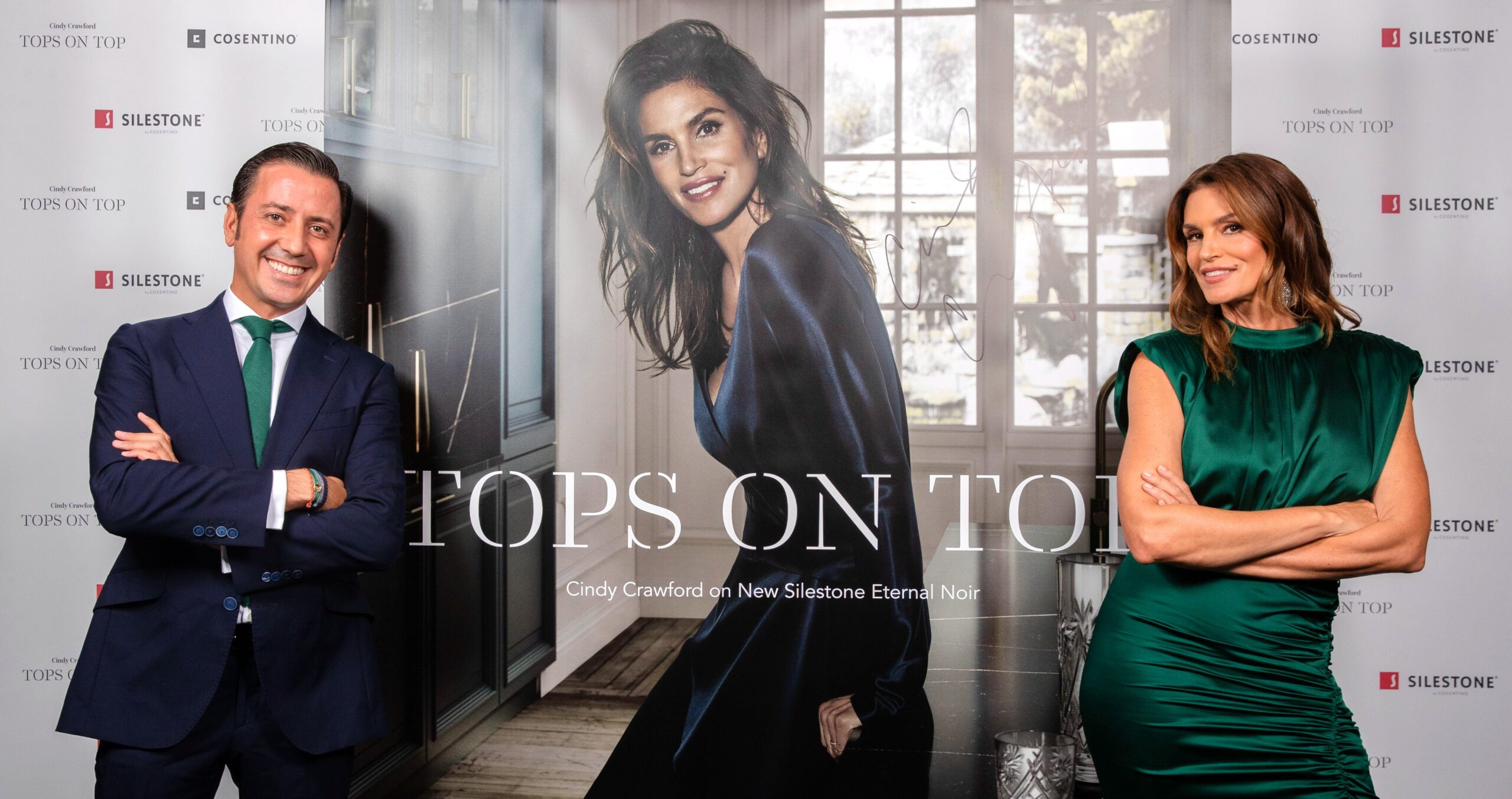 """Image of portada blog tops on top 2019 2 scaled in Silestone® Presents its New """"Tops on Top 2019"""" Campaign Featuring Cindy Crawford - Cosentino"""