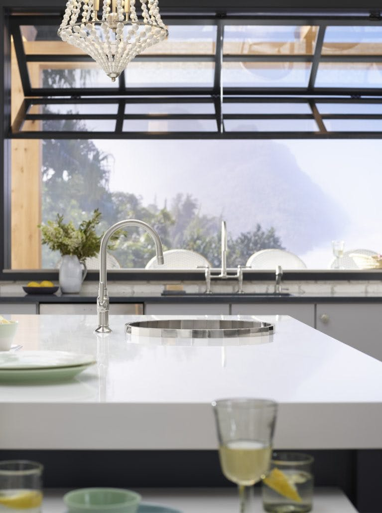 Image of zac26502 rgb 767x1030 1 1 in Cheryl Kees Clendenon's Greenhouse Kitchen - Cosentino