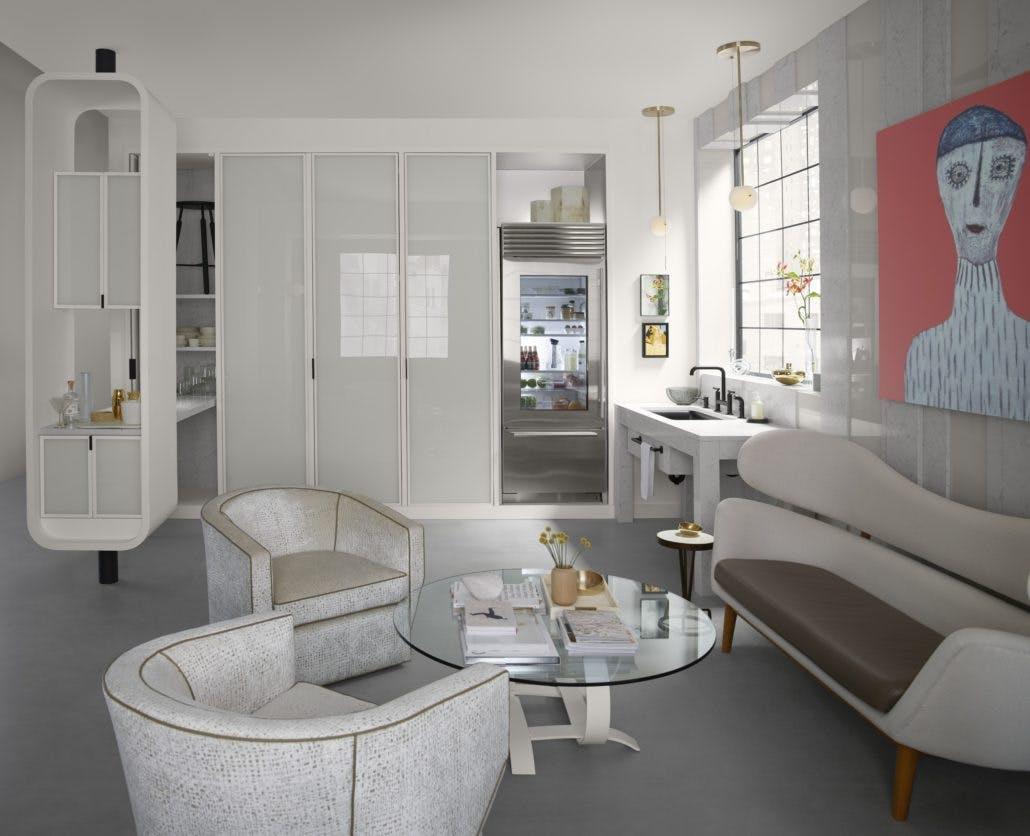 Image of zac27555 rgb 1030x836 1 1 in Silestone Trendspotter Drew McGukin's Studio Kitchen - Cosentino