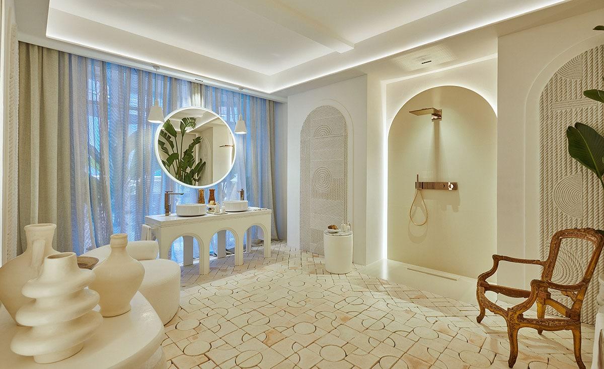 Image of Espacio AXOR creado por Raul Martins Oasis Ait Mansour Silestone Foto Craus Fotografía Arquitectura web in Cosentino at Casa Decor Madrid 2021 - Cosentino