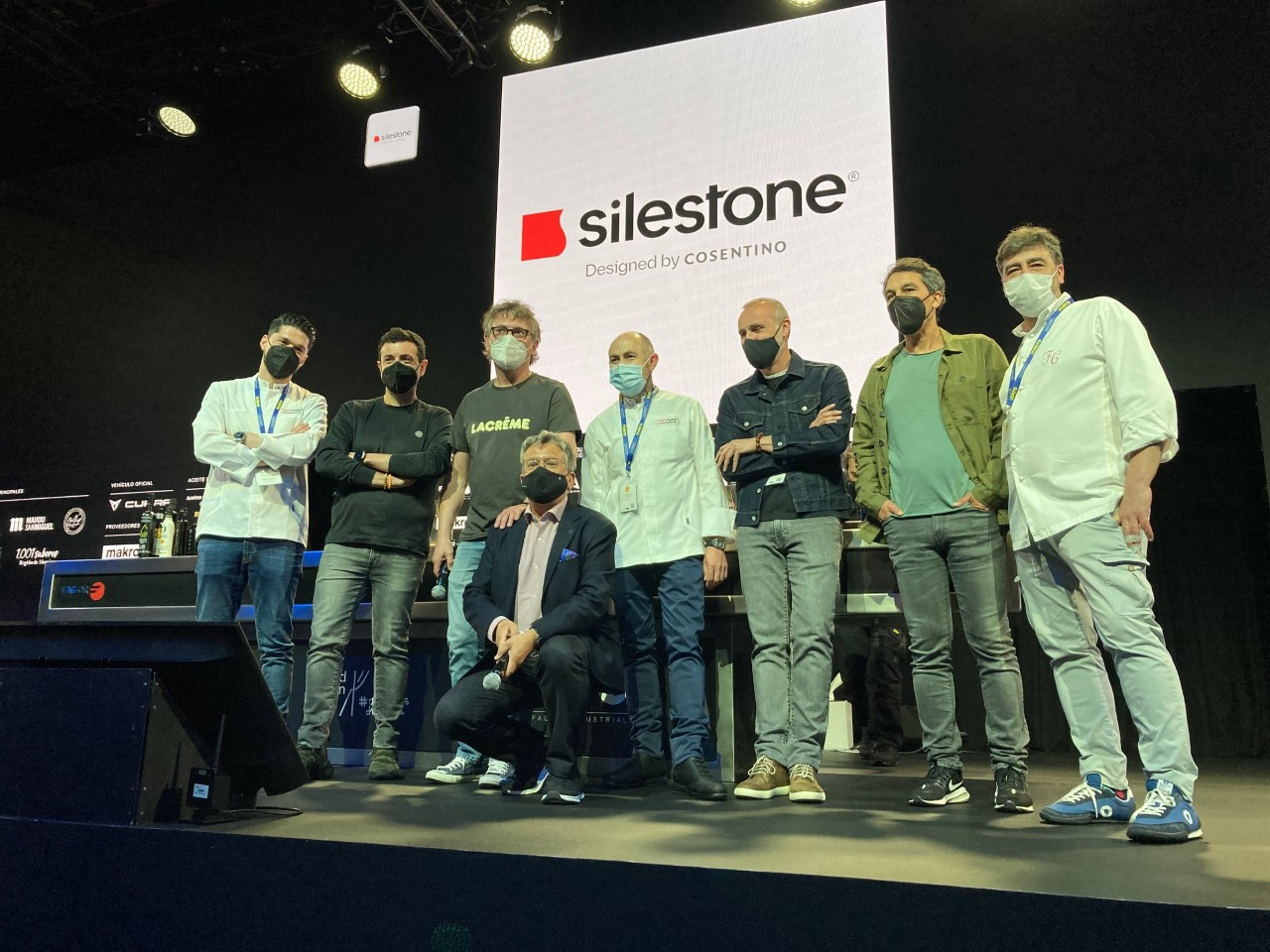 """Image of mf 2021 premio Silestone in Silestone® awards the """"Chef of the Year"""" to eight renowned chefs at 2021 Madrid Fusion - Cosentino"""