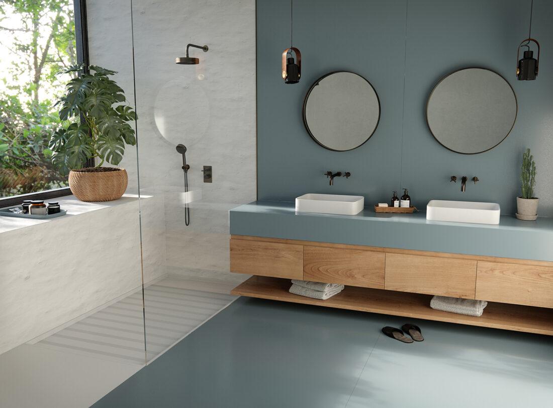 Image of Silestone Sunlit Days Cala Blue Bathroom web in Sunlit Days by Silestone® is here - Cosentino