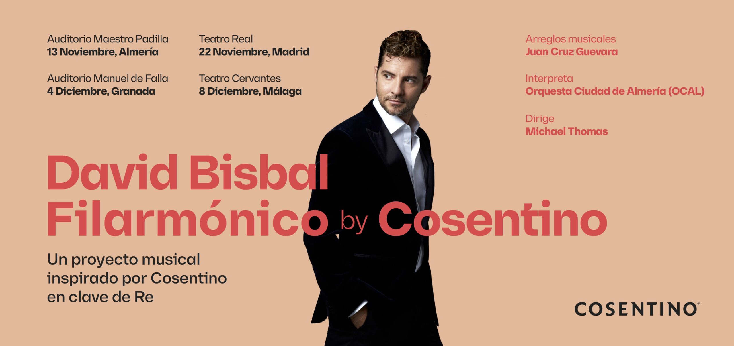 Image of cartel DBFbyCosentino scaled in Cosentino and David Bisbal present an exclusive series of concerts - Cosentino