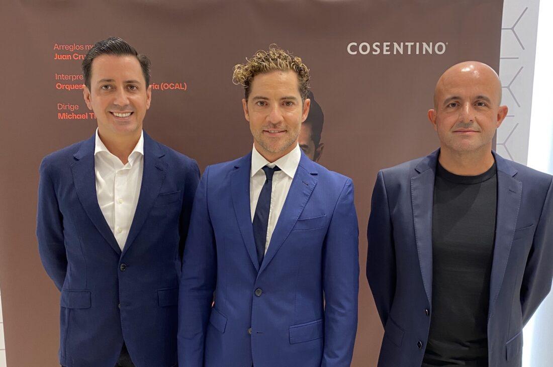 Image of eduardo cosentino david bisbal juan cruz copia in Cosentino and David Bisbal present an exclusive series of concerts - Cosentino