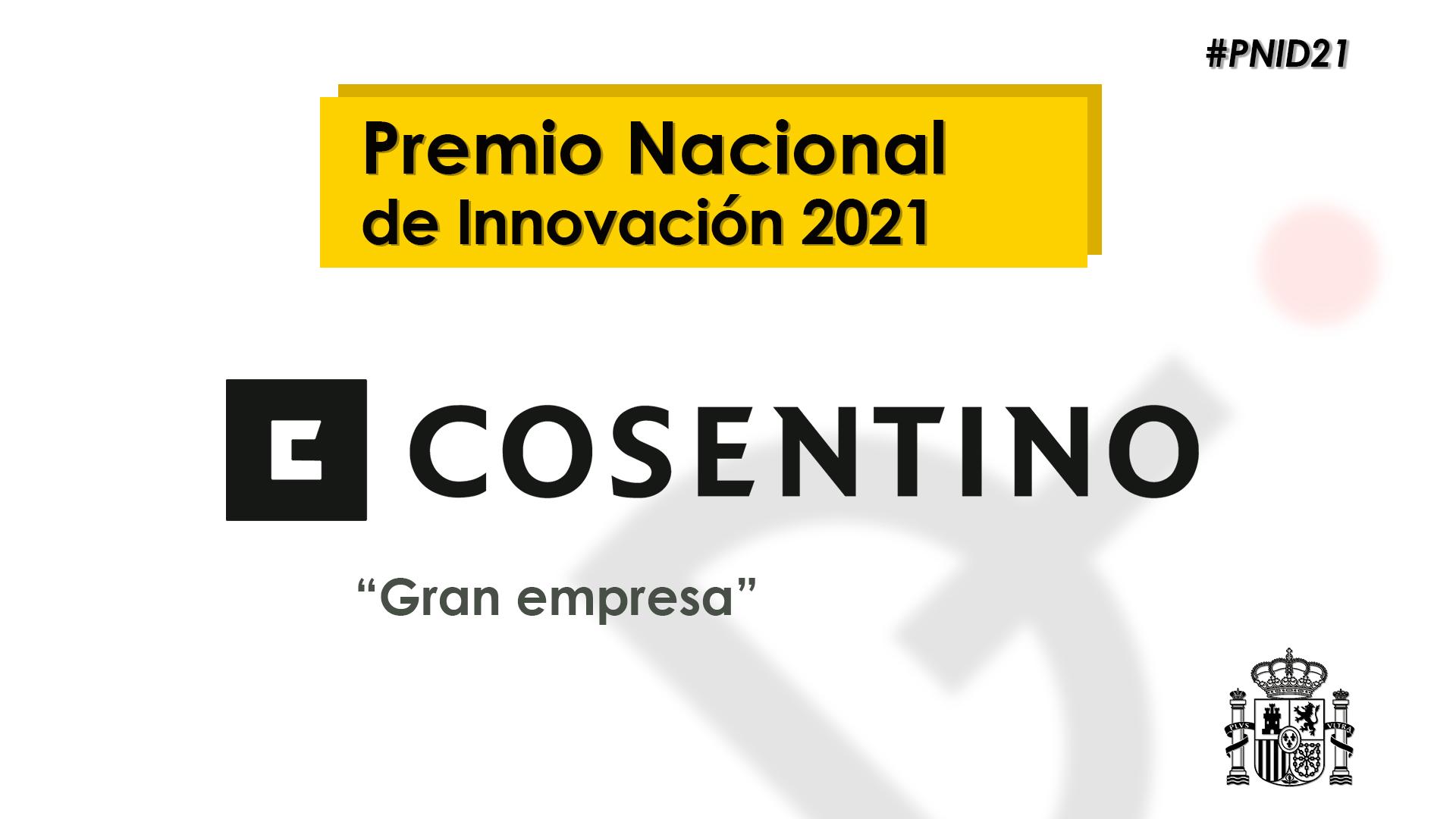 Image of Pnid21 award in Cosentino, winner of the Spanish National Innovation Award 2021 - Cosentino